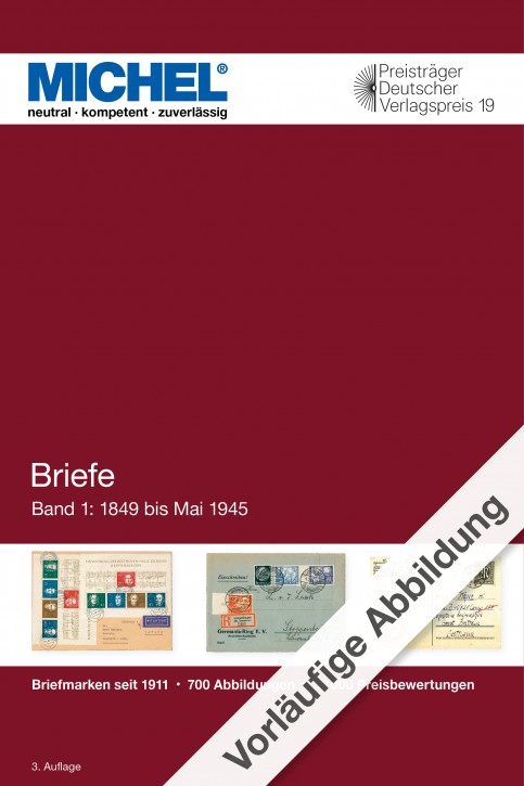 Covers Germany 2020/2021 - Volume 1 (until 1945)