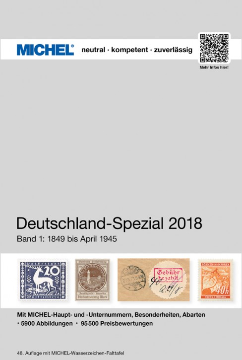 Germany Specialized 2018 – Volume 1 (1849–April 1945)