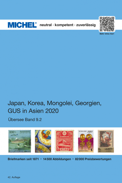 Japan, Korea, Mongolia, Georgia, GUS (former Soviet Republics in Asia) 2017/2018 (OC 9.2) (Ebook)