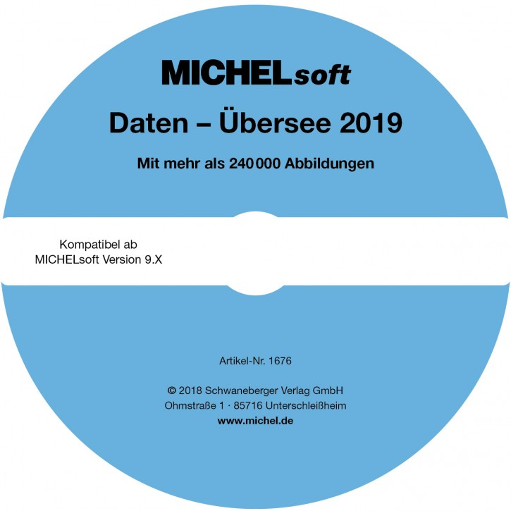 MICHEL-Daten/Update Briefmarken Übersee 2019 – für Soft & Album