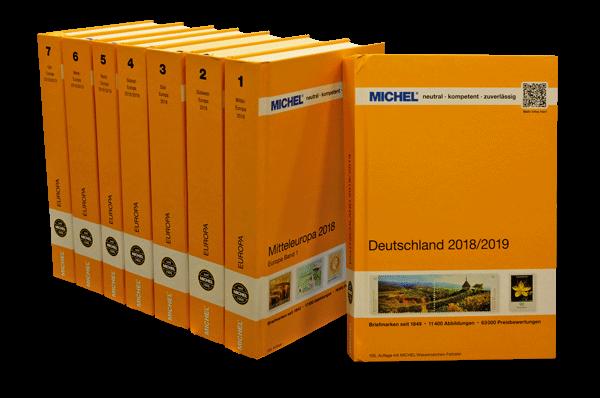 Alle Europa-Bände + MICHEL-Deutschland 2018/2019 im Set