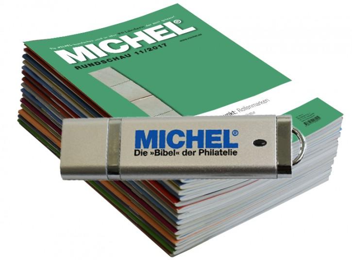 MICHEL-Rundschau-Jahrgang 2018 auf USB-Stick