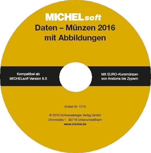 MICHEL-Daten/Update 2016 Münzen Deutschland – für Soft