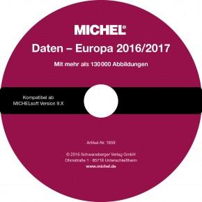 MICHEL-Daten/Update Briefmarken Europa 2016/2017 – für Soft & Album