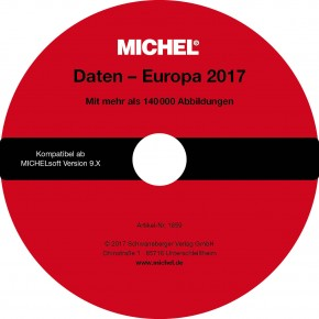 MICHEL-Daten/Update Briefmarken Europa 2017 – für Soft & Album