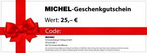 Geschenkgutschein für MICHEL-Produkte 25,-- €