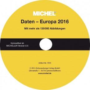 MICHEL-Daten/Update Briefmarken Europa 2015/2016 – für Soft & Album