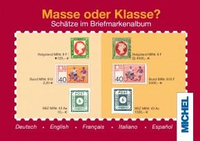 Masse oder Klasse? – in fünf Sprachen (dt, en, fr, es, it)